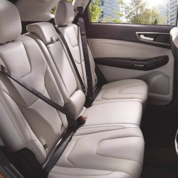 Ford Edge rear seating