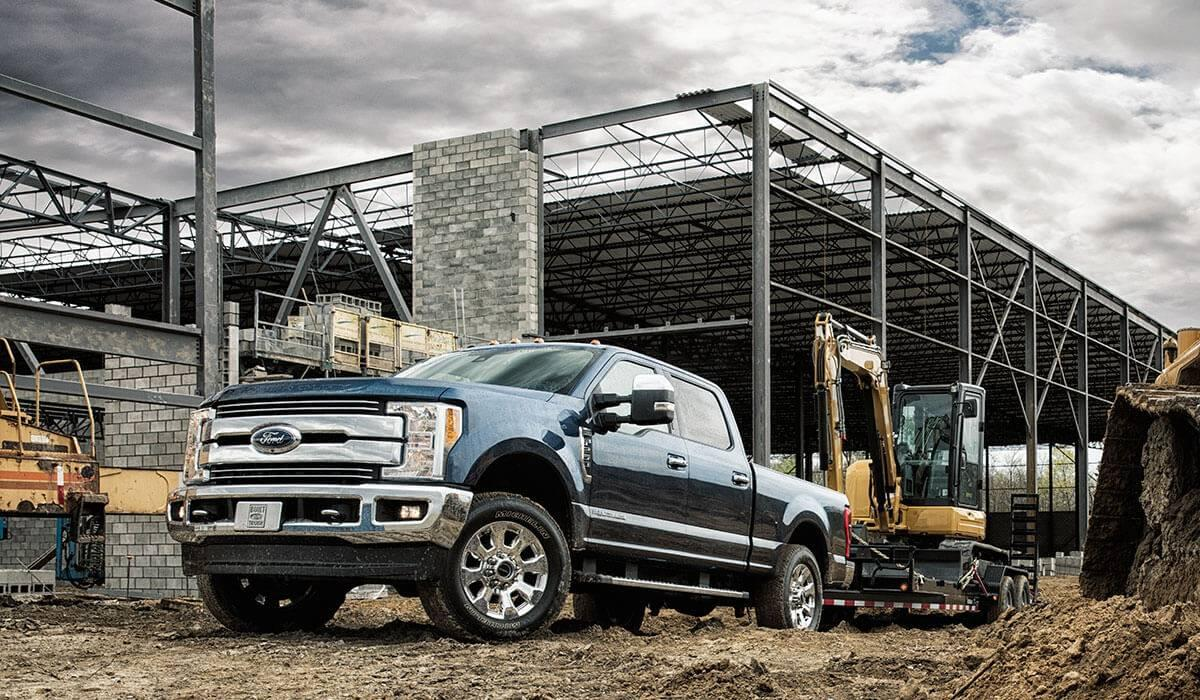 Ford Super Duty on construction site