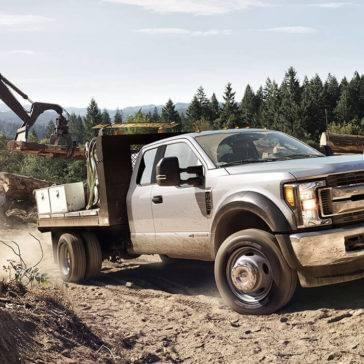 Ford Super Duty at a logging site