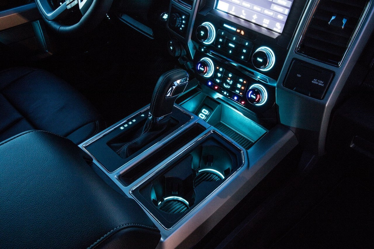 2018 Ford F-150 interior lighting