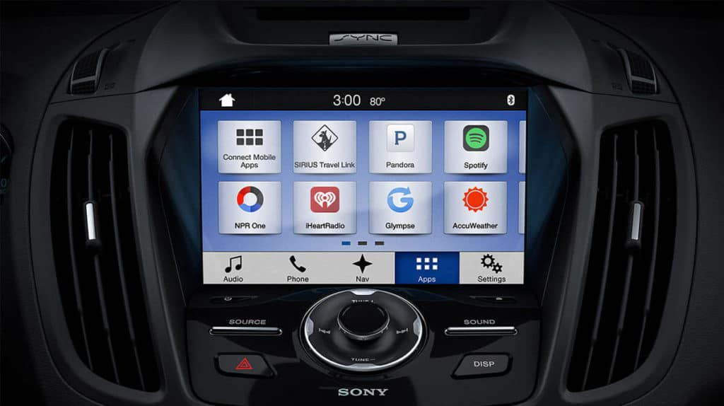 2018 Ford Escape touch screen