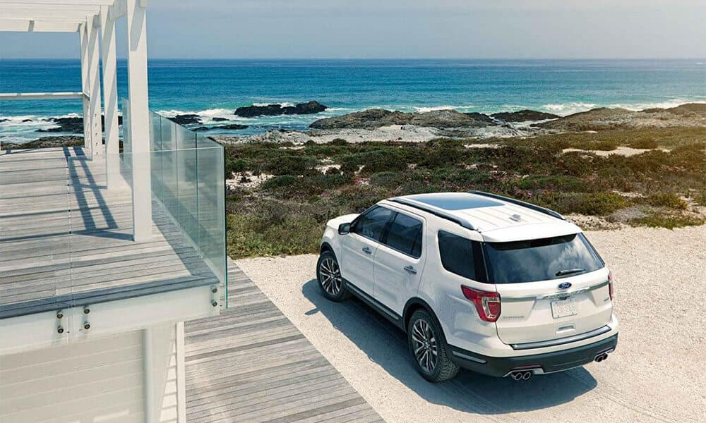 2018 Ford Explorer at the beach