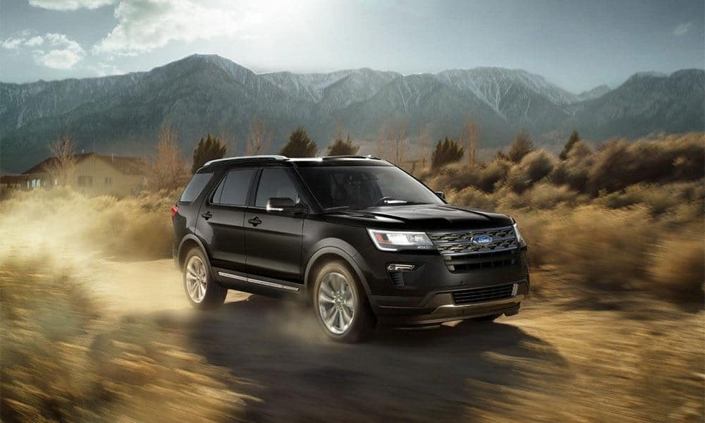 2018 Ford Explorer in the desert