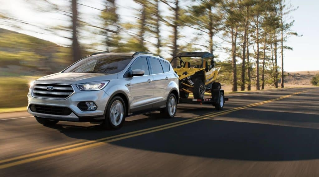 2018 Ford Escape towing in the forest