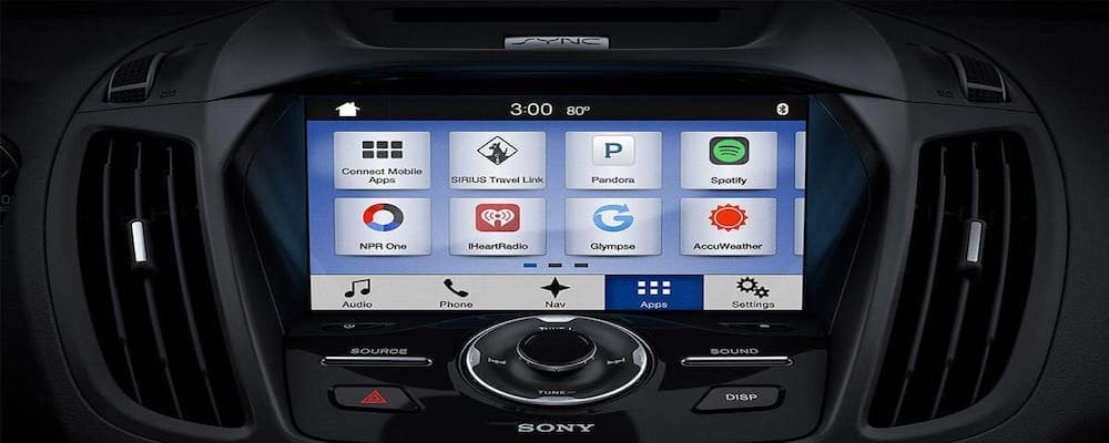 Ford SYNC apps touchscreen