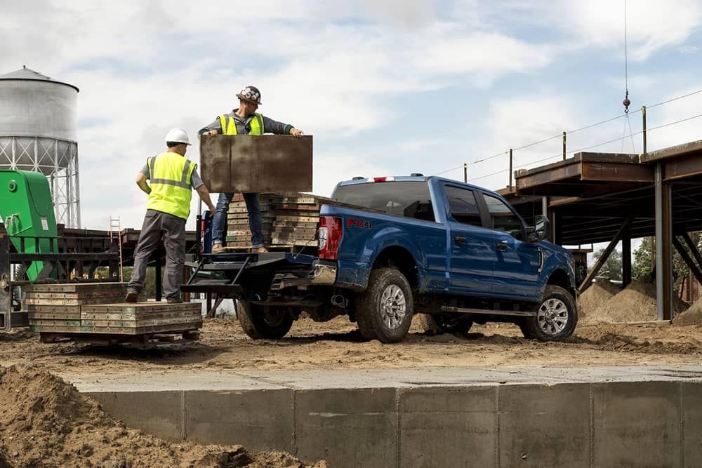 2020 Ford Super Duty Being Loaded