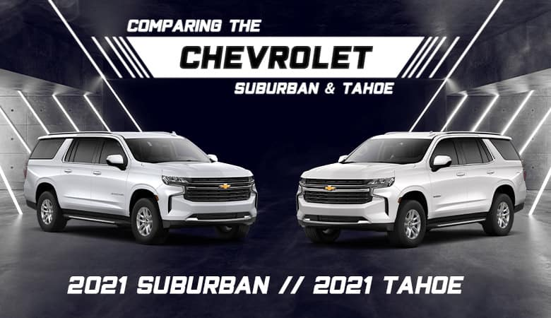 Suburban and Tahoe Differences | Grand Prairie, TX
