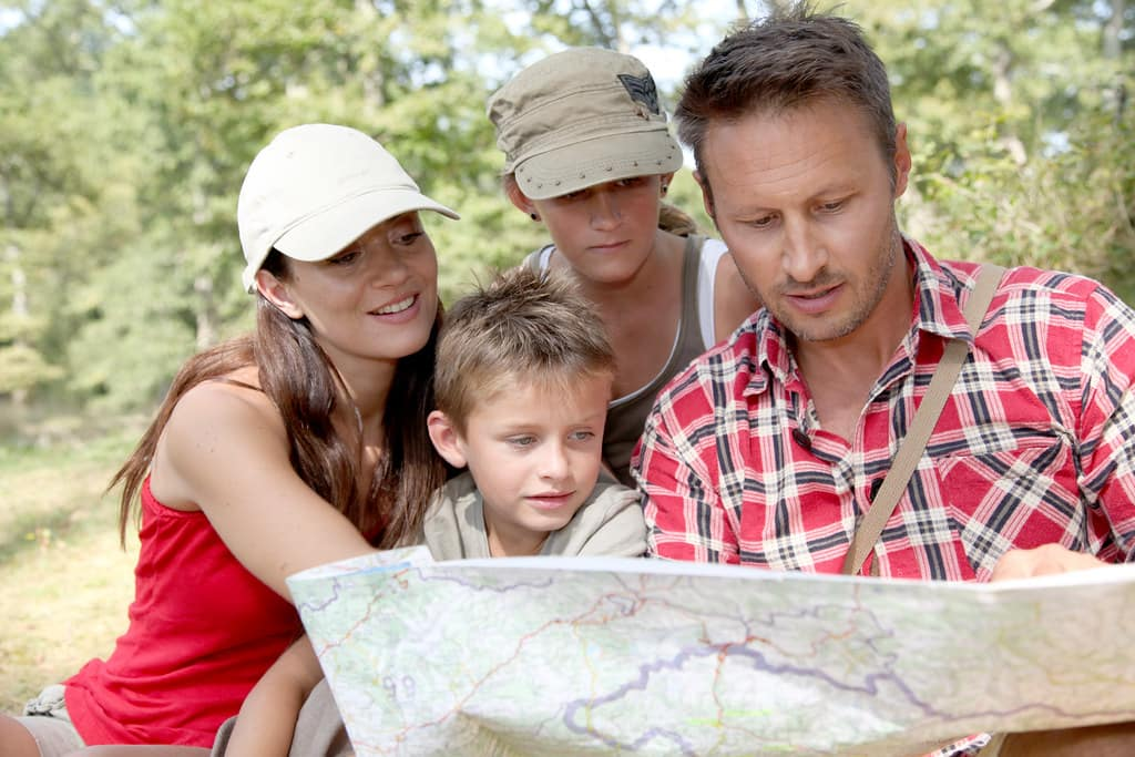 Family Navigating With Map | Grand Prairie, TX