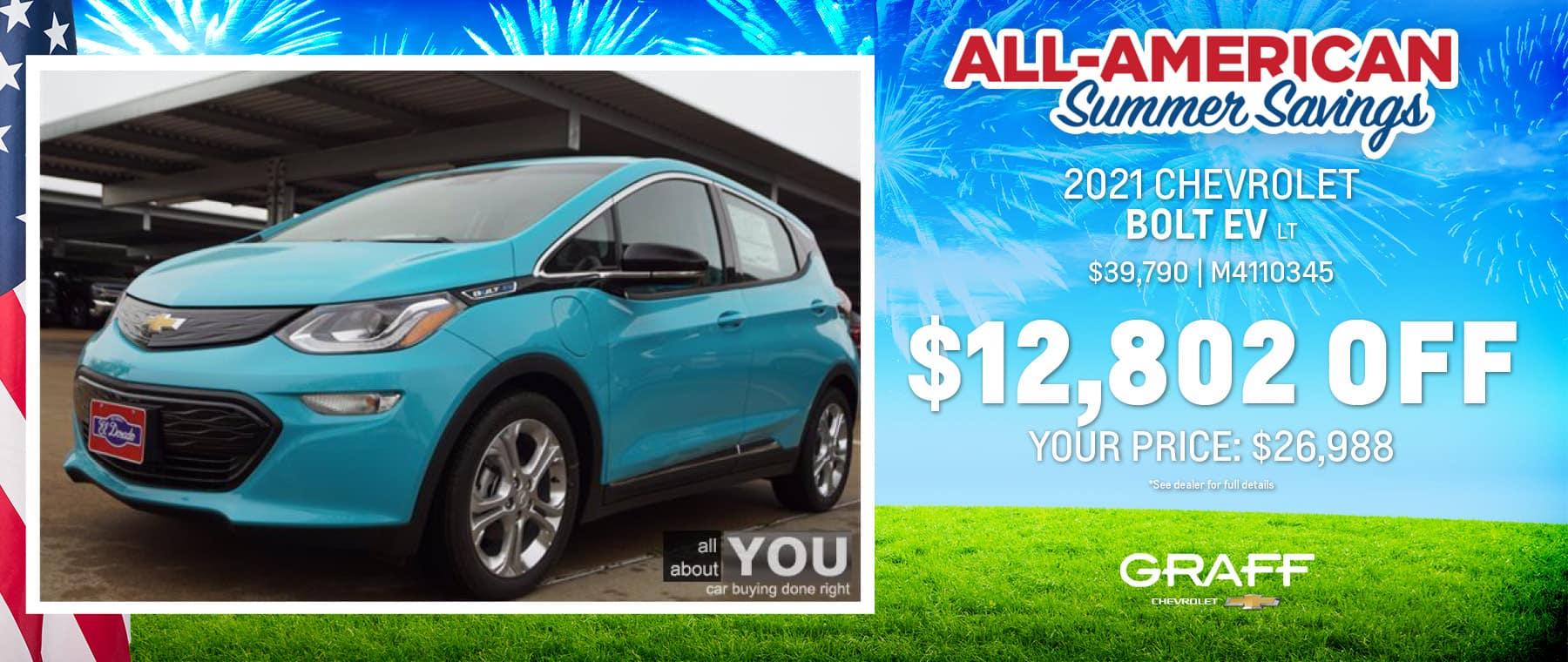 2021 Chevy Bolt EV LT | Grand Prairie, TX