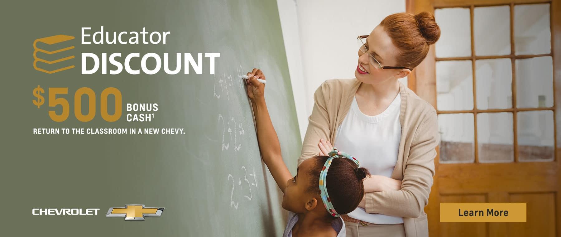 $500 Educator Discount