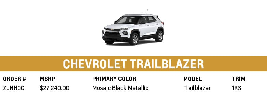Chevrolet Trailblazer  Grand Prairie, TX
