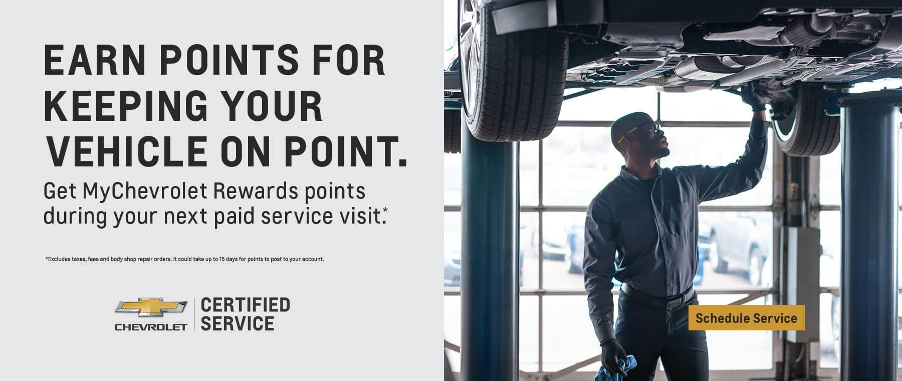 Earn points for keeping your vehicle on point