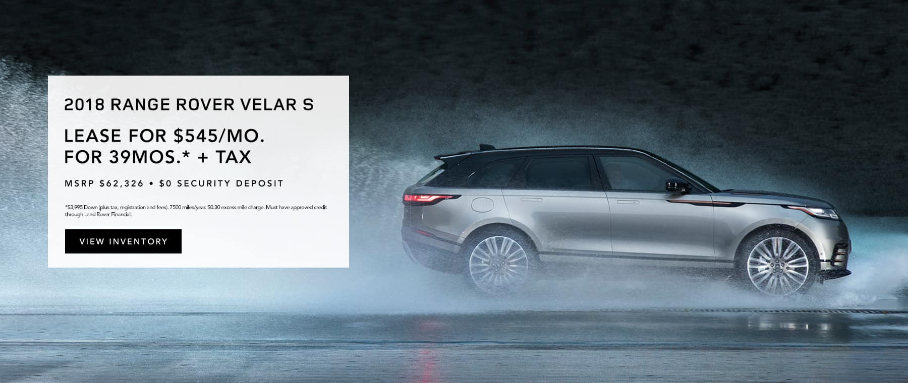 2018 Range Rover Velar S Lease Offer