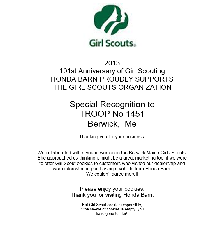 15 - 2013 Girl Scouts