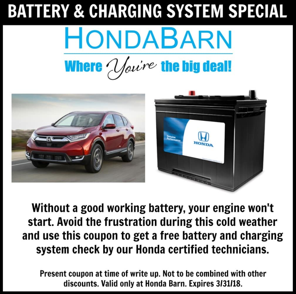 Honda Barn Battery and Charging System Special