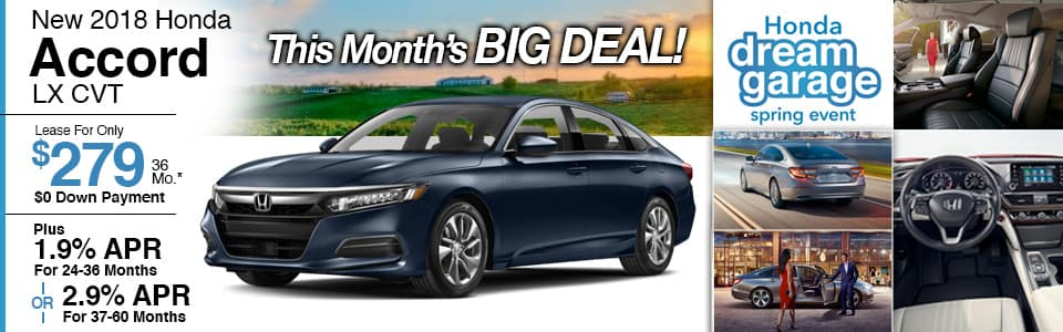 New Honda Accord Lease Special at Honda Barn