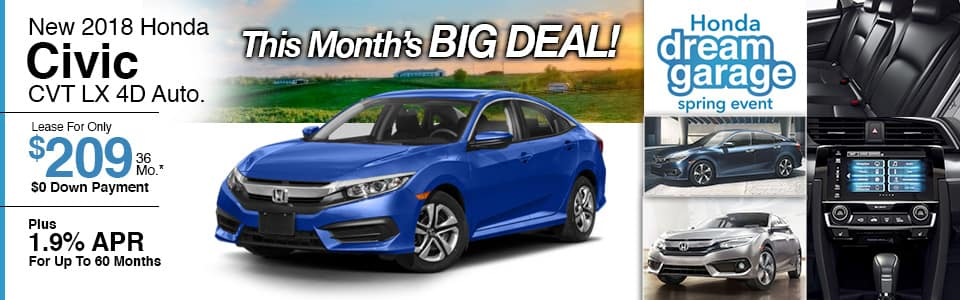New Honda Civic Lease Special at Honda Barn