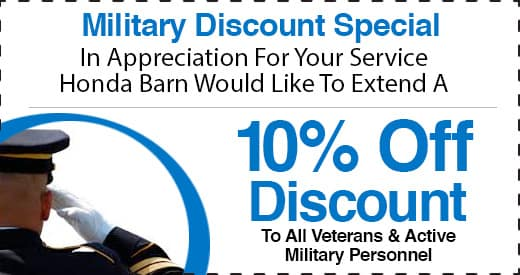 Honda Barn Military Discount