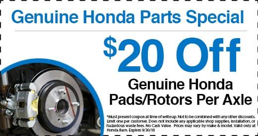 Genuine Honda Parts Special