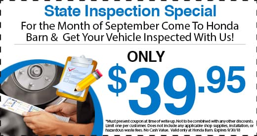 Honda Barn State Inspection Special