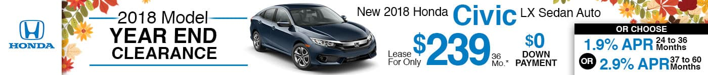 Brand New 2018 Civic LX