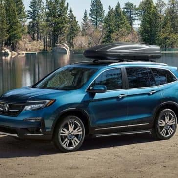 2019 Honda Pilot parked by a lake