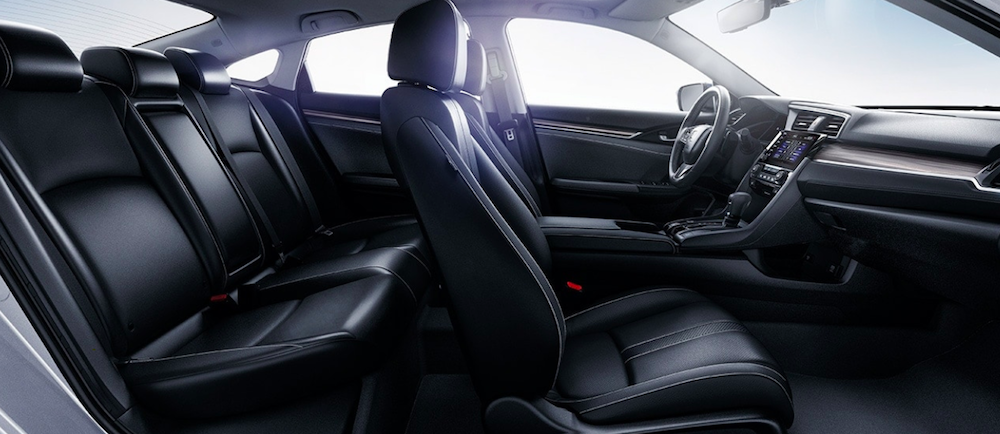 Interior view of the seats in a 2020 Honda Civic