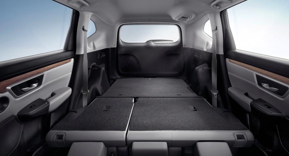 2020 Honda CR-V interior with rear seats folded down