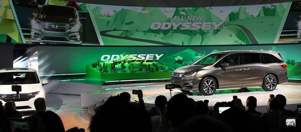 preview the forward thinking 2018 honda odyssey minivan. Black Bedroom Furniture Sets. Home Design Ideas