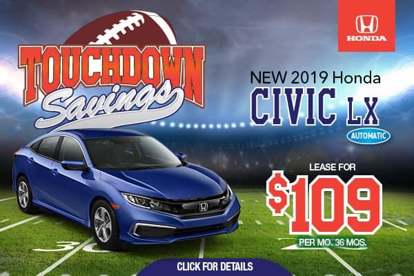 2019 Honda Civic LX Automatic Sedan