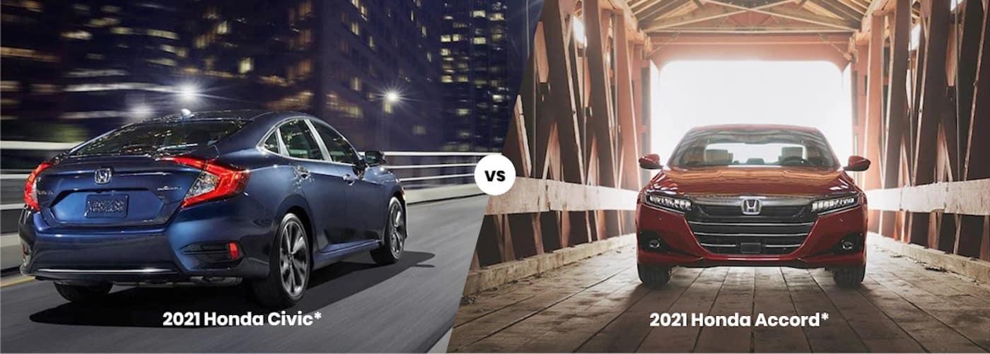 2021 Honda Civic Vs 2021 Honda Accord Honda Sedan Comparison