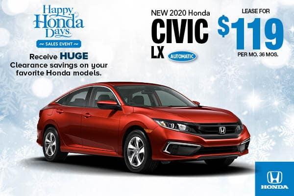 2020 Honda Civic LX Sedan Automatic