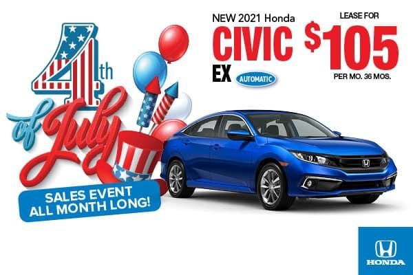 2021 Honda Civic EX Sedan Automatic