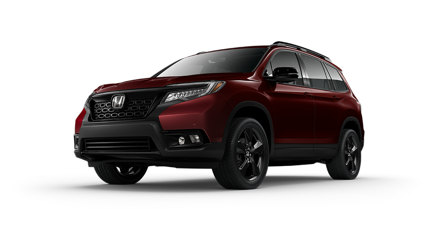 2019 Honda Passport in Deep Scarlet Pearl color