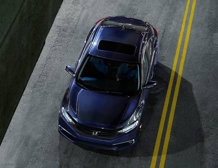 birds eye view of 2019 Honda Civic sedan