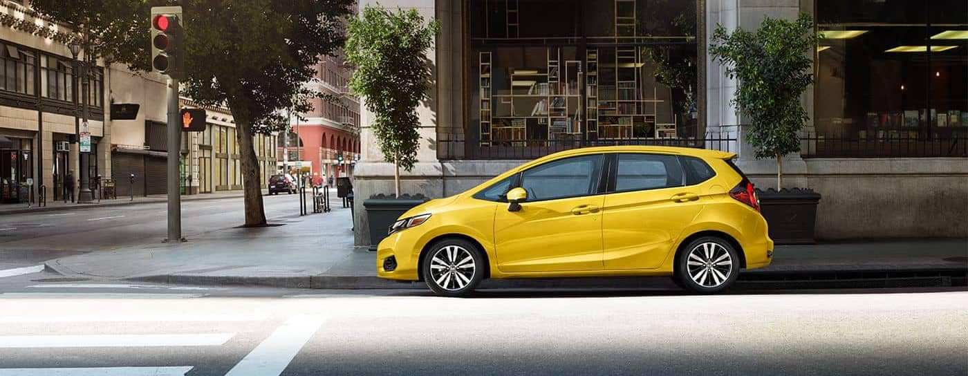 2018 Honda Fit parked on street