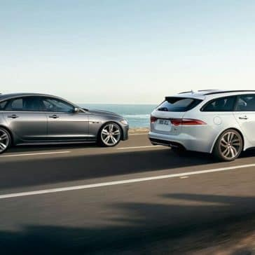 2019 Jaguar XF sportbrake and sedan profile views