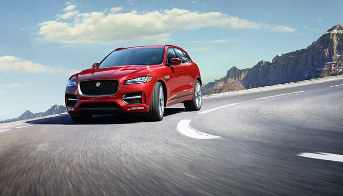 2019 Jaguar F-PACE Driving on Road