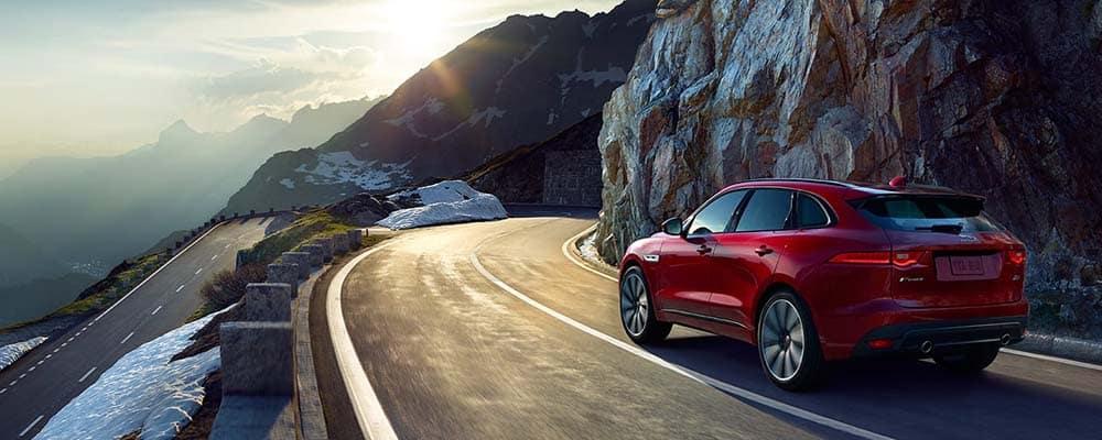 Jaguar F-Pace Driving On Road