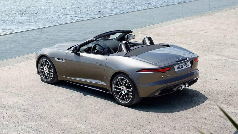 2020-Jaguar-F-TYPE-R-Dynamic-in-Silicon-Silver-parked-next-to-the-sea