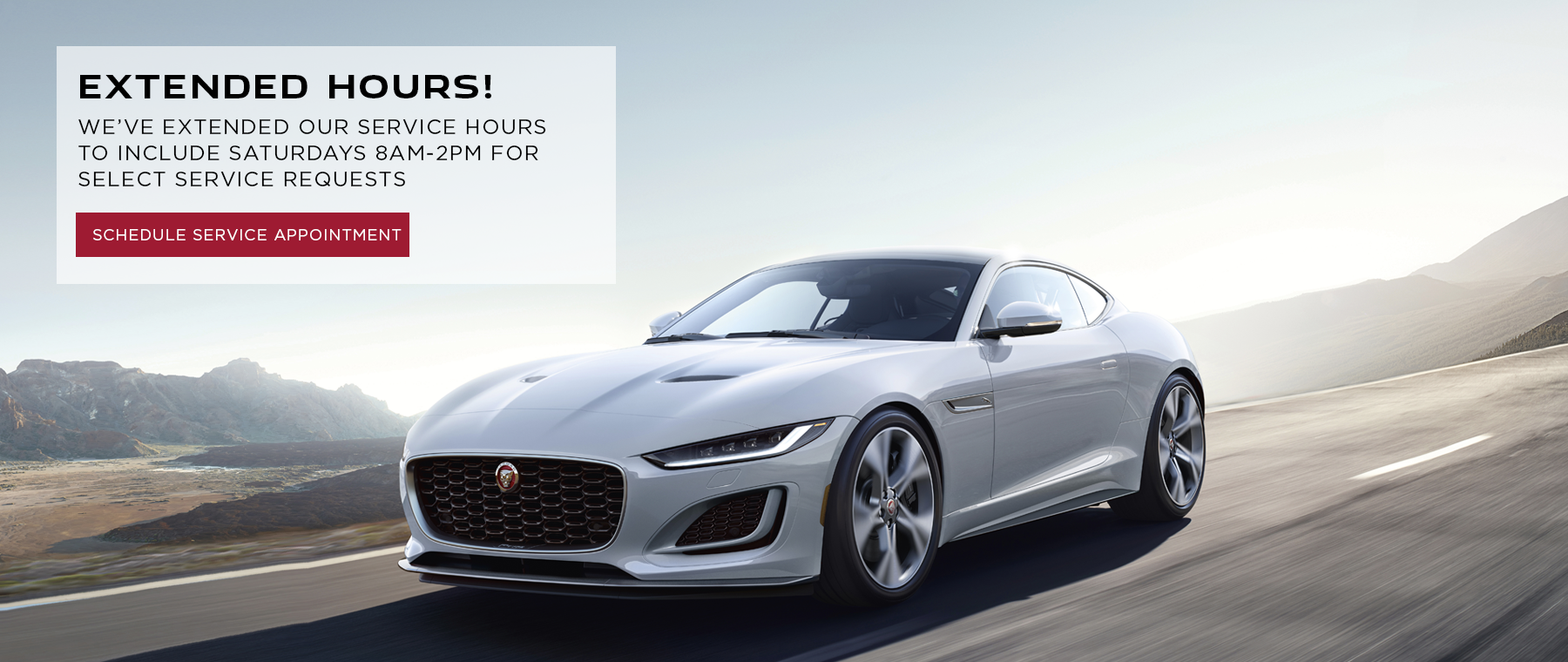 Jaguar Extended Service Hours