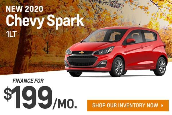 New 2020 Chevy Spark 1LT