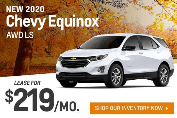 New 2020 Chevy Equinox AWD LS
