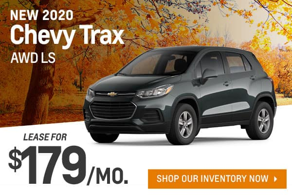 New 2020 Chevy Trax AWD LS