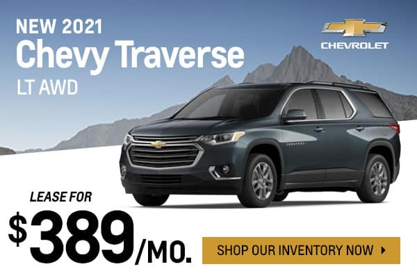 New 2021 Chevy Traverse LT AWD