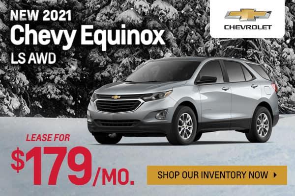 New 2021 Chevy Equinox LS AWD