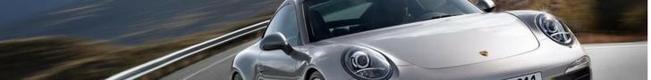 The front of a Porsche