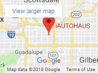 Location map for iAUTOHAUS in Tempe, Arizona