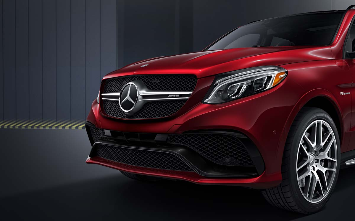 Mercedes-Benz GLE front grill details