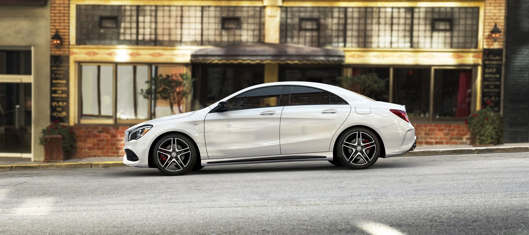 2017 Mercedes-Benz CLA Coupe Side View white exterior model